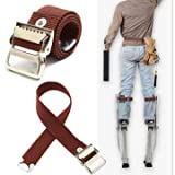 Generic Stilts Straps Drywall Leg Band Straps Kit Hook And Loop Canvas Woven Brown