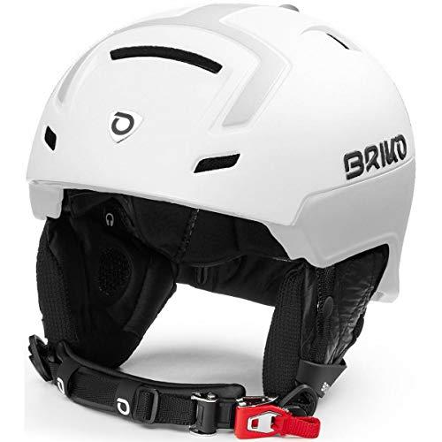Briko Stromboli Casque de Ski/Snow, Adulte, Unisexe, Matt Shiny White, Large