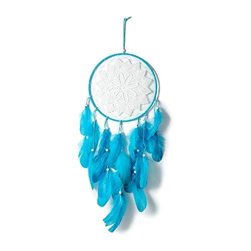 CYGJ Flores Atrapasuenos Hechos A Mano Azul Atrapasuenos Decoracion Hecho a Mano Atrapasueños Pequeños para Atrapasueños Y Manualidades,75x25cm