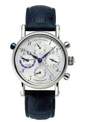 CHRONOSWISS OROLOGIO TORA CHRONOGRAPH DUAL TIME GMT CH-7423