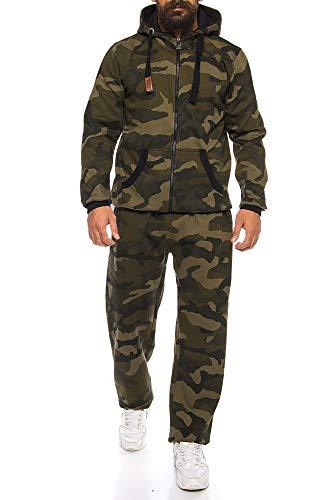 Finchman Finchsuit 1 Herren Jogging Anzug Trainingsanzug Sportanzug FMJS135, Camo Grün, XL