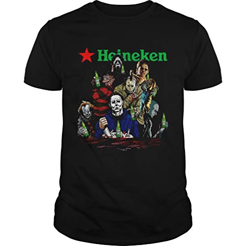 Horror Character Movie Drink He.ineken Beer Unisex - Tshirt For Men and Women