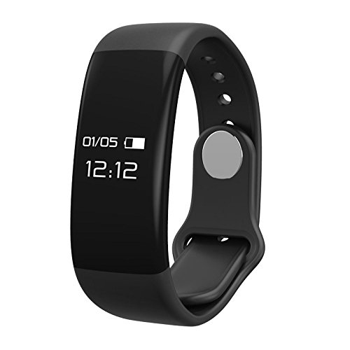 CADIC Fitness Tracker for Men and Women with Heart Rate Sleep Monitor Step Calorie Counter IP67 Waterproof Black