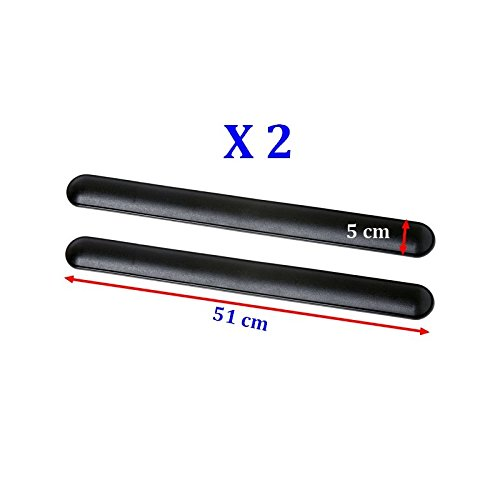 ALTIUM 101484 2 Protèges Pare-Chocs, Noirs, 510 mm