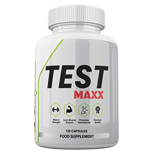 Test MAXX - Premium Testosterone Booster for Men by Freak Athletics - 120 Capsules - Test Booster for Men Made in The UK - High Quality Guaranteed