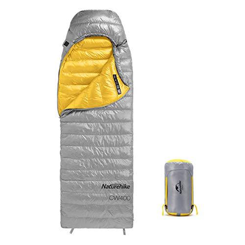 Naturehike Saco de Dormir de plumón, 3-4 Estaciones, Saco de Dormir para Adultos liviano y portátil 5-15 ℃ cómodo, pequeño Rango Impermeable, Adecuado para Acampar y Caminar