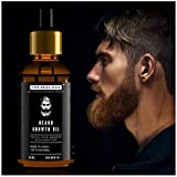 Beard Growth Oil by THE REAL MAN. Men's Mustache & Beard Growth Oil,100% Natural & Organic, Conditioner & Softener for Men,50ml (1.69oz). Beard Care With Best Beard Oil - For Best Beard Look