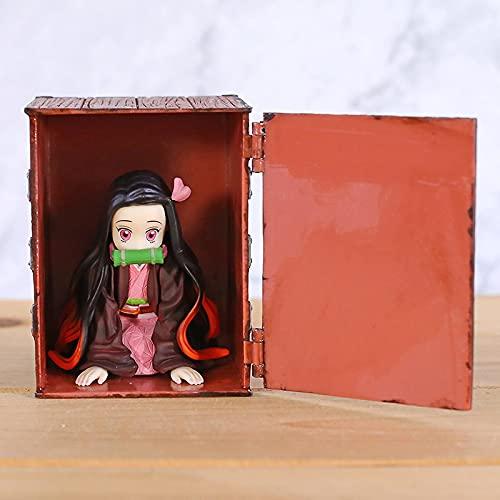 Figura De Anime Demon Slayer Kimetsu No Yaiba Mini Kamado Nezuko En Caja Figuras De PVC Estatua Figuras Juguetes Colección De Figuras De Acción Modelo Muñeca 15Cm