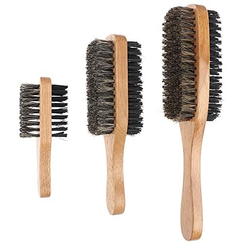 Peines - Cepillo de pelo de cerdas de jabalí para hombre, cepillo de pelo de madera natural para hombre, cepillo de pelo corto, largo, grueso, rizado y ondulado