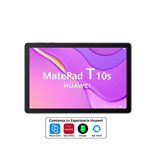"""HUAWEI MatePad T10s - 10.1 Tablet"""" with FullHD screen (WiFi, 3GB RAM, 64GB ROM, Kirin 710A processor, Quad speakers, EMUI 10.1, Huawei Mobile Services), Color Blue"""