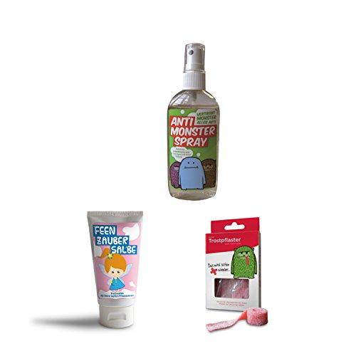 Liebeskummerpillen - Trost-Set für tapfere Mädchen (Trostpflaster, Anti-Monster-Spray, Feen-Zauber-Salbe)