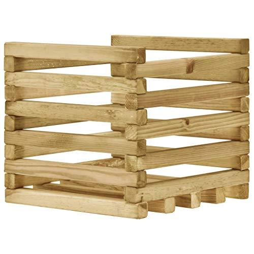 UnfadeMemory Pflanzkübel Pflanzkasten aus Imprägniertes Kiefernholz Außenbereich Pflanzgefäß Holz-Pflanzkasten für Garten, Balkone oder Terrasse (40 x 40 x 35 cm)