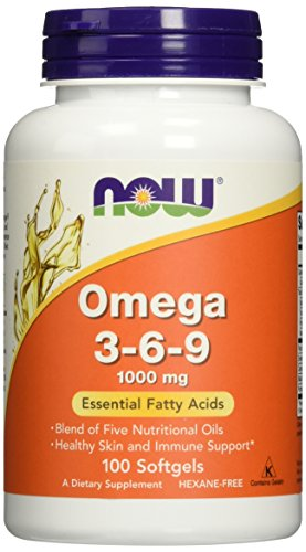 Now Foods Omega 3-6-9 1000 mg, 100 softgels (Pack of 2)