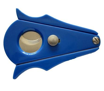 Cigar Cutter - Executive Blue Stainless Steel - Cut and Lock System