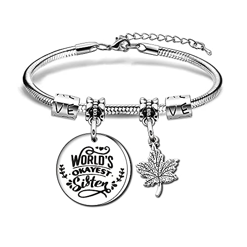 Best Friend Gifts for Women Girls Women Pendant Bracelet Snake Bracelet for Friends Sisters Birthday Gifts Christmas Gifts, L,