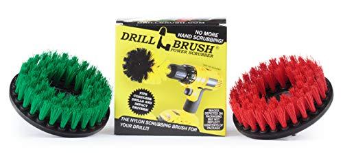 Drill Brush - Forniture di Pulizia - Medium e Stiff Setola corredo della Spazzola - Grout Cleaner - Tile, Contro-Top, Piano Cottura, Forno, lavandino, Cestino, Piante - calcestruzzo Piscine