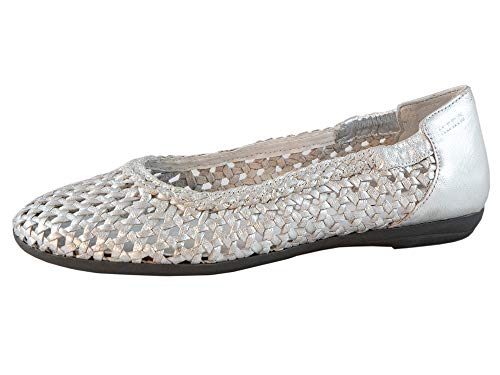 MARC Shoes Damen Schuhe Ballerina Janine Glattleder (Grau, Numeric_40)
