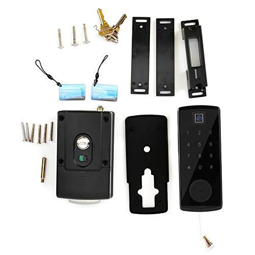 Jacksking Verrouillage par Mot de Passe, Lecteur d'empreintes digitales Bluetooth avec Lecteur de Cartes, Clavier numérique, serrures intelligentes, Verrouillage du...