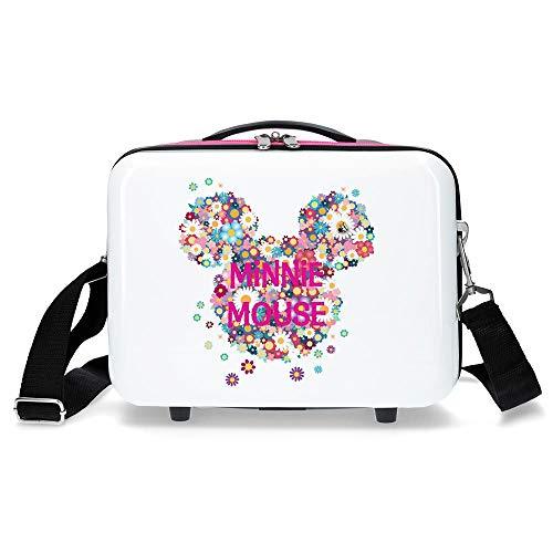 Disney Neceser ABS Minnie Sunny Day Flores Fucsia, Blanco