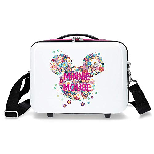 Disney Neceser ABS Minnie Sunny Day Flores Fucsia, Blanco