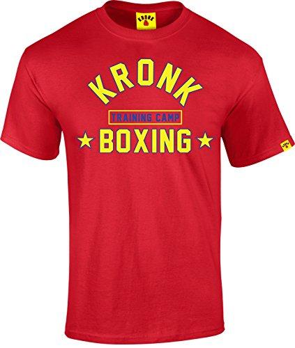 KRONK Maglietta Training Camp vestibilità Regolare XXGrande Rosso