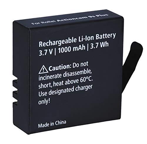 Rollei Zusatz-Akku für Actioncam 8s Plus und 9s Plus, Ersatzakku mit 1000 mAh Kapazität