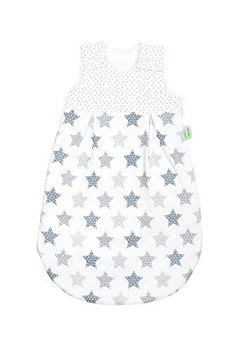 Odenwälder Jersey-Schlafsack Basic Sterne silber, Größe:90