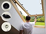 AULIVB Dachfenster Thermo Sonnenschutz120x130cm Blackout, Rollo für Roto Dachfenster Fensterrollo...
