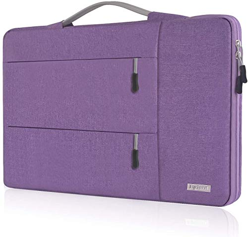Egiant 15.6 Inch Laptop Sleeve,Shock-Proof Protective Handbag Compatible with Dell Inspiron,Asus,Acer Aspire,HP Pavilion,Chromebook 15,Water Repellent Drop-Resistant Notebook Case Bag,Purple