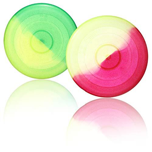 com-four® 2X Frisbee para niños y Adultos - Disco de