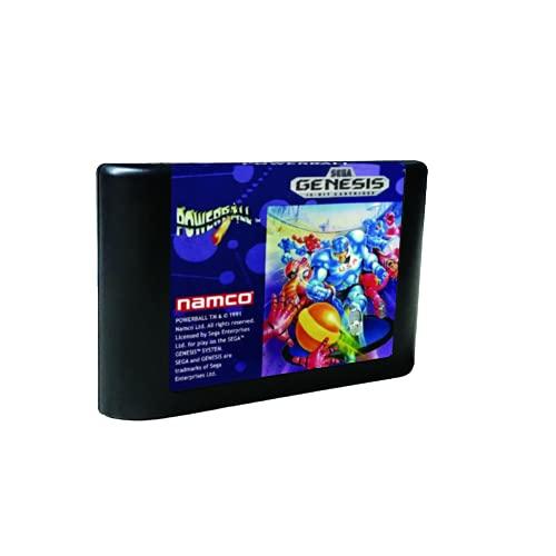 Royal Retro Powerball - USA Label Flashkit MD Electroless Gold PCB Card pour Sega Genesis Megadrive Console de jeux vidéo (NTSC-U)