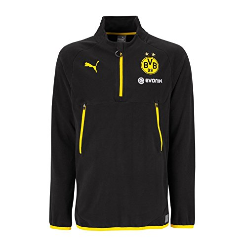 PUMA Herren BVB Training Fleece with Sponsor Logo Pullover, Black-Cyber Yellow, M