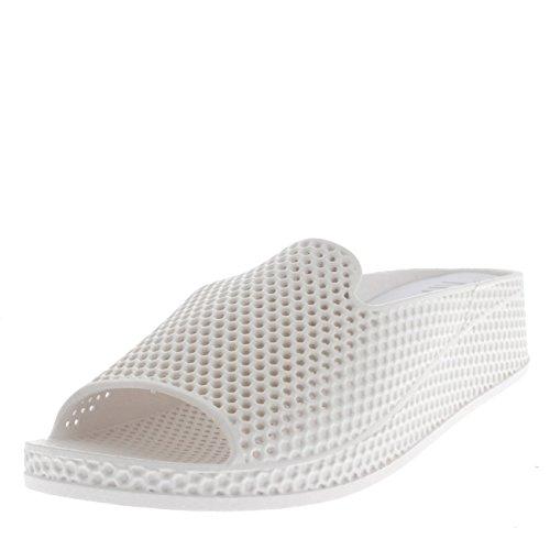 Womens lage wig hak geperforeerde open teen sandalen schoenen