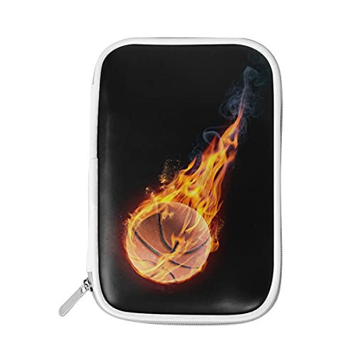 ADKing - Estuche para lápices de baloncesto con cremallera para deportes de fuego