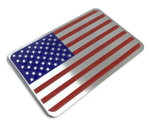 Riley Express American US Flag Decal Sticker - Emblem Made from Aluminum Alloy -...