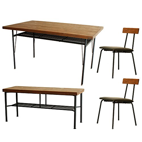 無垢 ダイニング4点セット KELT(ケルト) 140cm パイン材 ダイニングテーブル+チェア+ベンチ