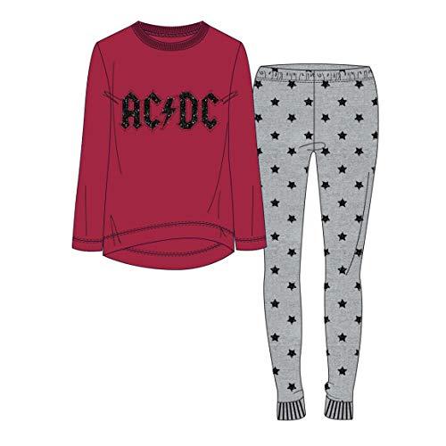 ARTESANIA CERDA Herren Pijama Largo Ac/Dc Zweiteiliger Schlafanzug, rot (18), Small