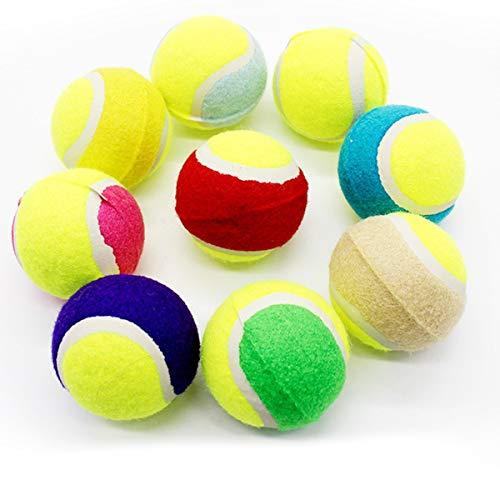 Greatangle Small Size Dog Tennis Ball Giant Pet Toys for Dog Chewing Toy Signature Mega Jumbo Toy Ball for Dog Training Supplies Colorful