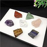 XBFVE 7 Cristales de curación de Chakra Set- cayó piedras preciosas naturales para la meditación, Reiki y Puesta en marcha