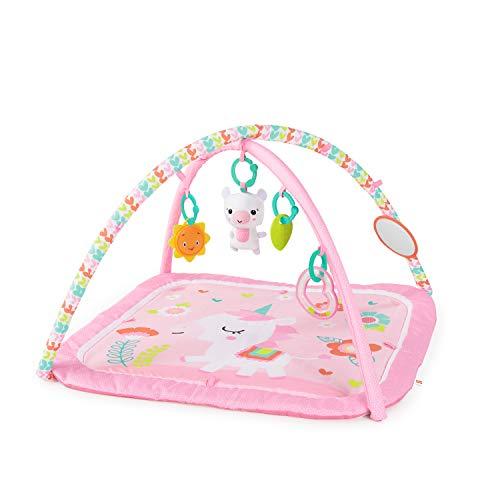 Bright Starts Daydream Blooms - Esterilla de gimnasia y juegos con juguetes para llevar, para recién nacidos y niños