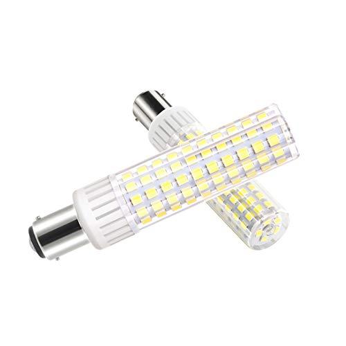 Ymm Bombilla LED B15D brillo ultra alto de 8.5W 1105 lúmenes, AC 90-265V ángulo de 360 grados,CRI 90Ra, blanco frío 6000k, repuesto para bombillas halógenas de 100W,no regulable(1 paquete)