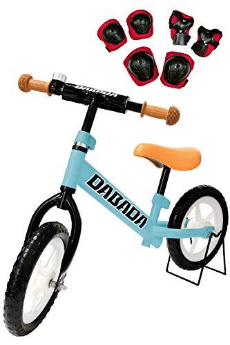 DABADA(ダバダ) ランバイク ペダルなし自転車 子供用 スタンド付きバランス 2歳~5歳 (スカイブルー)
