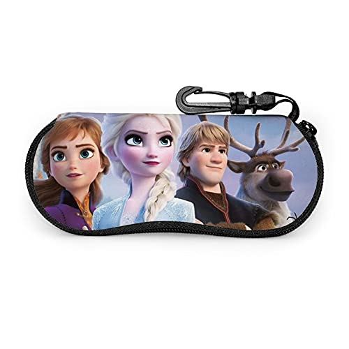 Die Eiskönigin Brillenetui, tragbare Brillenetui, Anime Brillenetui, Sonnenbrillenetui, Brillenaufbewahrungsbox, leicht, stilvoll, einfach und niedlich