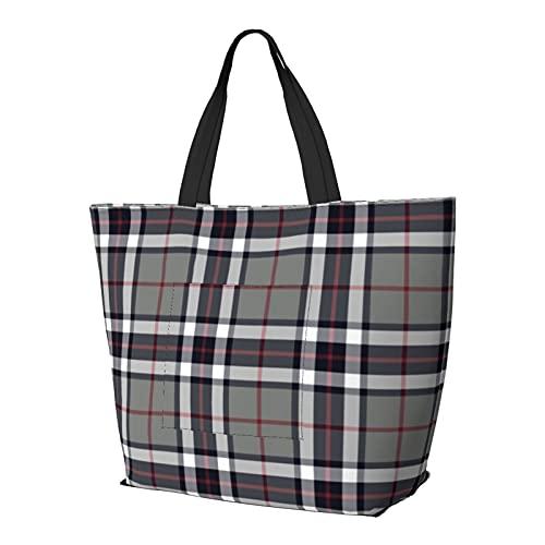 Thomson Thompson - Bolsa de hombro multifuncional de gran capacidad, ligera, bolsa de trabajo, bolsa de viaje, bolsa de playa, para mujer