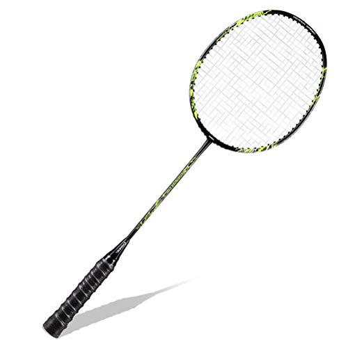CZ-ING Raqueta de bádminton unisex para adultos con eje de fibra de carbono, raquetas de bádminton profesional de alta tensión de cuerda de bádminton raqueta (verde) ✅