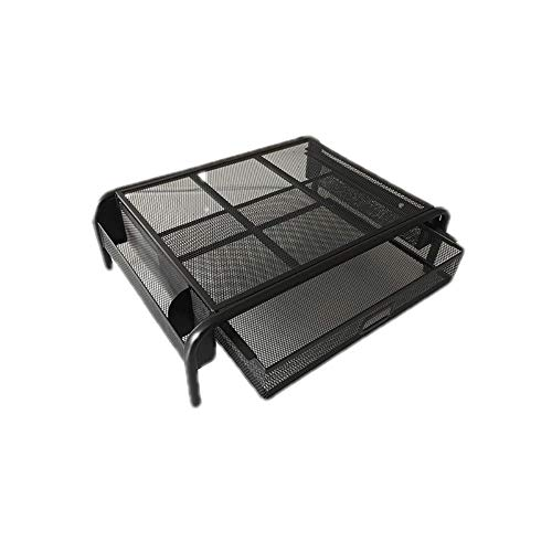 Free Iron Mounting Stand Screen Computer Monitors Increases With Increased Storage Drawer Storage Basket Tables,Black