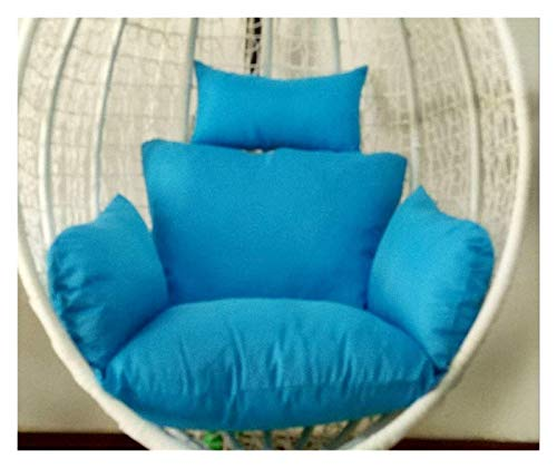 LLNN Home Decoration Swing Chair Cushion Swing Chair Cushions Hammock Chair Pad, Rattan Seat Cushioning Weave Egg Seat Pads with Pillow Hanging Basket Furniture Cushion (Color : Sky Blue)