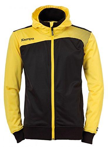 Kempa Emotion Veste a capuche Veste à capuche Homme Noir/Mais Jaune FR : XL (Taille Fabricant : XL)