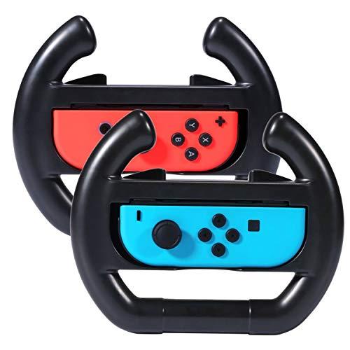 Shop4 - Nintendo Switch - Joy-Con Stuur Wheels Set (2 stuks) Zwart