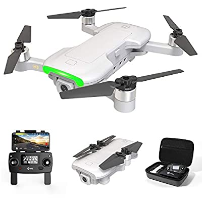 Holy Stone HS510 GPS Drone with 4K UHD Camera 5G FPV Live Video for Adults and Beginners, Foldable RC Quadcopter with Brushless Motor, Return Home, Follow Me, Long Flight Time, Includes Carring Case